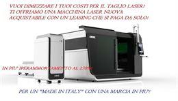 Taglio laser fibra nuovi leasing a tasso zero 1.600 €