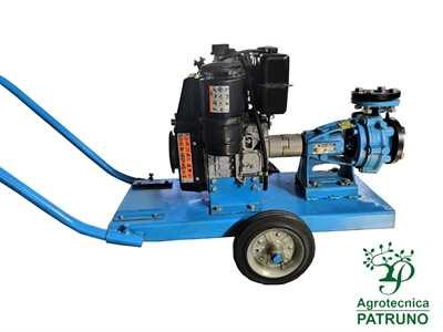 Motopompa motore diesel Lombardini 8HP