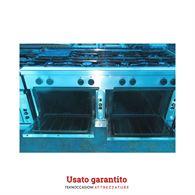 Cucina a gas Zanussi 8 fuochi 2 forni