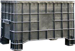 Casse in plastica bins accatastabili usate